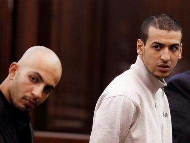 Suspects in the Manhattan synagogue plot, Ahmed Ferhani (l) and Mohamed Mamdouh, at their arraignment Thursday.