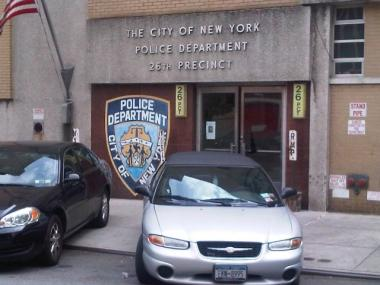An apparent grenade was dropped off at the 26th Precinct stationhouse Thursday afternoon.