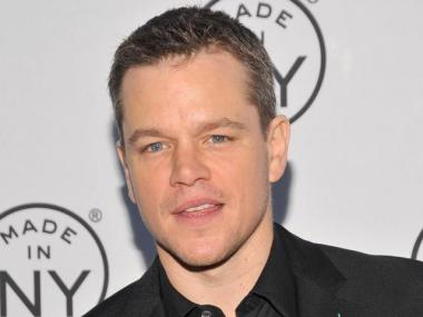Matt Damon appears at the Made in NY awards at Gracie Mansion Monday, where he reportedly said a joint fundraiser with Anthony Weiner was postponed.