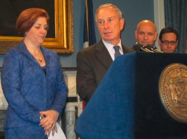 Mayor Michael Bloomberg and City Council Speaker Christine Quinn tried to avoid discussion of the scandal during a Q&A Tuesday.