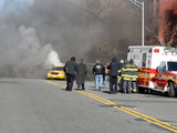 Cab Explodes in East Harlem as Part of 'A Gifted Man' TV Stunt