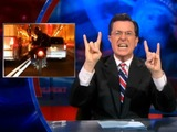 Stephen Colbert Films Wheelie-Popping Dirt Biker in Lincoln Tunnel
