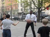 NBA Star Dwyane Wade Plays Pickup Basketball in SoHo