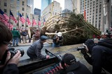 Rockefeller Center Christmas Tree Arrives at New Home