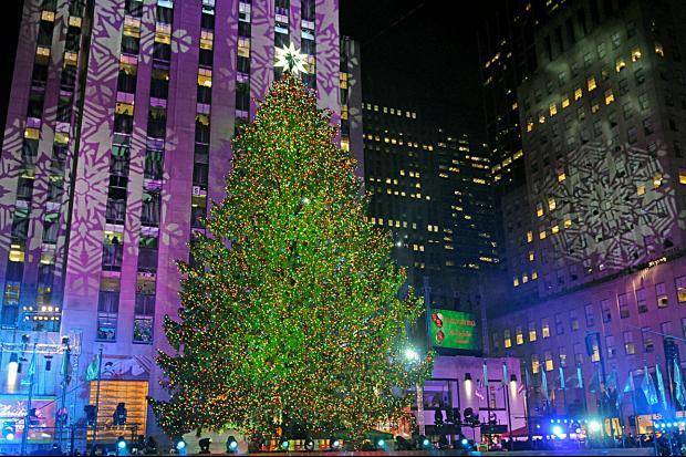Holiday Revelers Gather at Rockefeller Center Christmas Tree Lighting