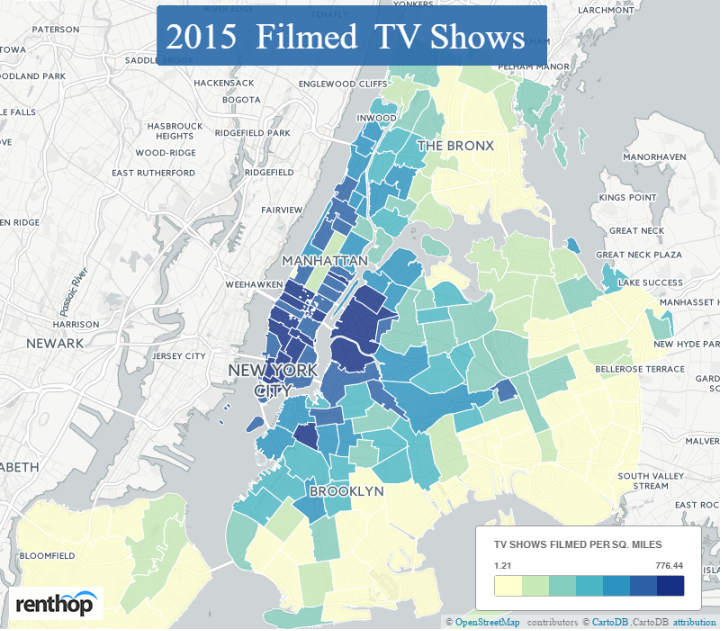 Where And When Film And Tv Productions Have Shot In Nyc