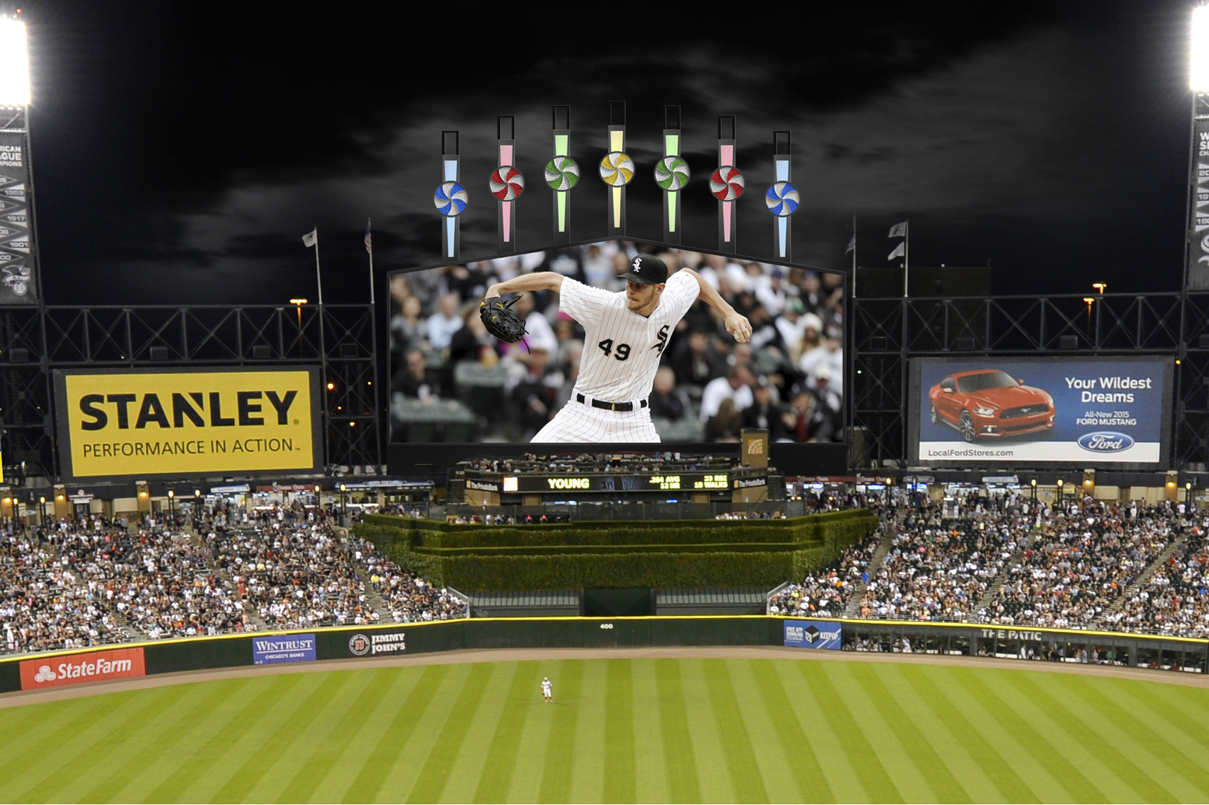 Chris Sale Looks Even BIGGER on Sox Park's New Jumbotron (PHOTO