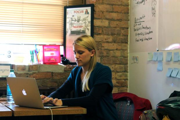 Lincoln Park resident Brittany Martin Graunke ran her donation connection startup, Zealous Good, out of her Lincoln Park apartment for more than a year to get it off the ground. The organization has now partered with more than 185 not-for-profits around the city.
