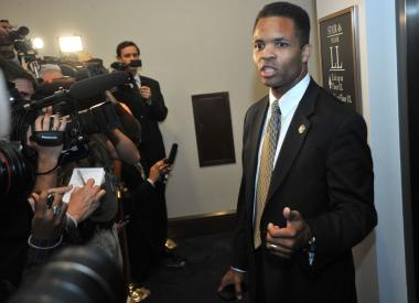 US Rep. Jesse Jackson, Jr., D-IL, speaks to reporters following a Democratic Caucus on August 1, 2011 at the US Capitol in Washington, DC.