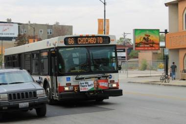 Currently, the No. 155 Devon Avenue bus only reaches as far west as Kedzie Avenue.