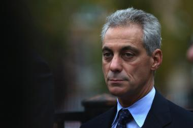 Chicago Mayor Rahm Emanuel joins community members in an anti-violence march on Oct. 3 in Chicago.