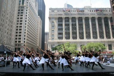 After School Matters' summer dance ensemble performs in Daley Plaza.