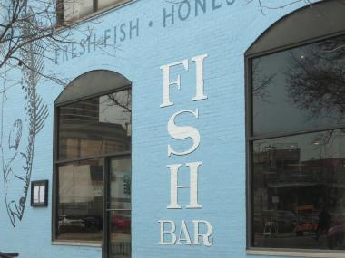 The aquatic facade of Fish Bar on Sheffield Avenue on Nov. 20, 2012.