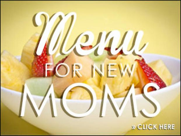Nutritional value of Moment for Mom menu items.