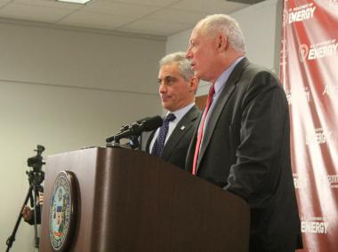 "Mayor Rahm Emanuel — appearing with Gov. Pat Quinn — said on Nov. 30, 2012, the two are ""very close"" to a deal that would clear the way for a Chicago casino."