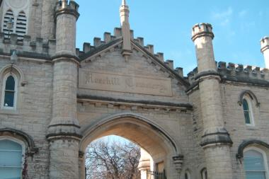 Rosehill Cemetery was one of the historic and architectural gems featured during a Chicago Neighborhood Bike Tour of Lincoln Square.