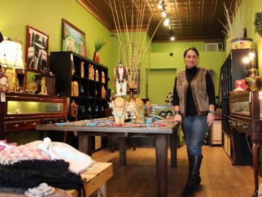 Serda Amil, owner of Serda's Store, stands in her soon-to-close shop on Nov. 28, 2012.