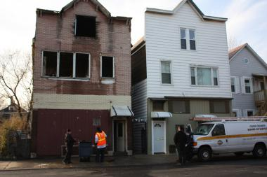 Officials responded to a fire Wednesday on the 8400 block of South Burley Street.