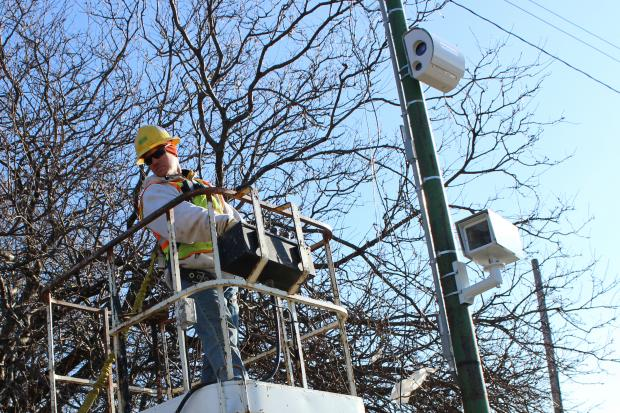 The city has begun installing speed cameras throughout the city.
