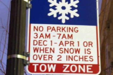 Chicago's annual winter parking ban runs from 3 a.m. to 7 a.m. from Dec. 1 to April 1 on 107 miles of arterial streets.