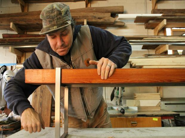 A look inside the studio of furniture maker Don Wood.