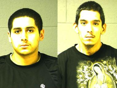 Anthony Castaneda, 17, and Rolando Ojeda, 23, both of Blue Island, were arrested Wednesday and each charged with two counts of aggravated battery, police said.