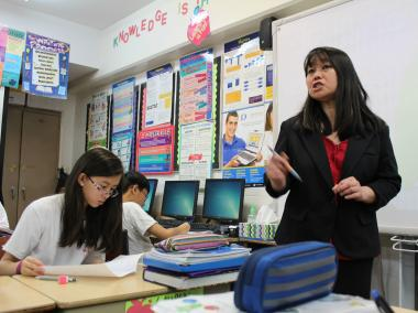 Carol Hang, an eighth-grade teacher at St. Therese Chinese Catholic School, is DNAinfo's Teacher of the Week.