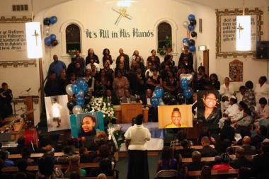 Hundreds turned out Thursday night for the funeral of   Porshe Foster  , a 15-year-old f  atally shot Nov. 26.