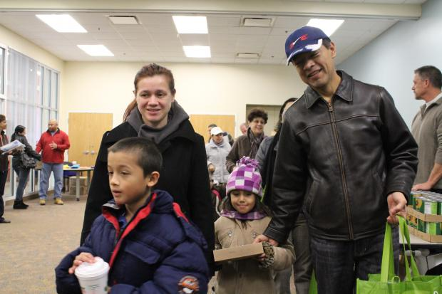 Northwest side families walked away with ingredients to create a complete holiday meal at Metropolitan Family Services' North Center location Saturday.