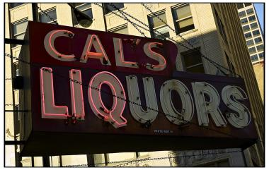 South Loop dive bar Cal's Liquors' neon sign is for sale.