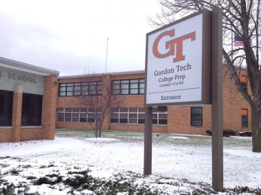Gordon Tech College Prep officials announced Wednesday the school will change its name this summer to DePaul College Prep.