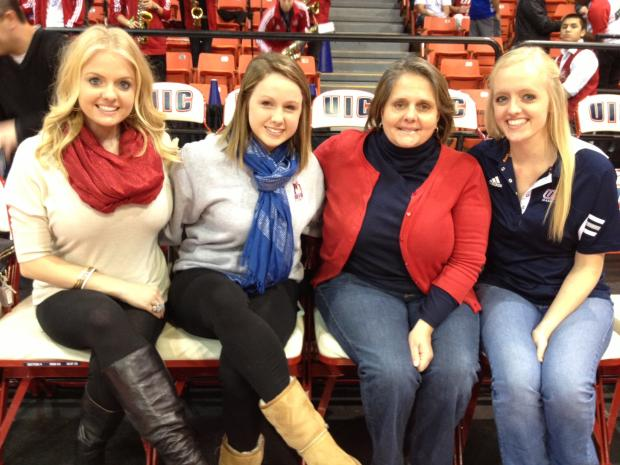 Jim Ryan was a longtime UIC men's basketball season ticket holder. Ryan passed away earlier this year, but his family continues to attend Flames games.