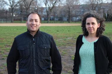 Jose Lopez and Sarah Reschly, members of the Brighton Park Neighborhood Council, have been leading the charge to get Kelly Park renovated.