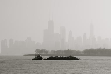 Chicago's skyline peeks out through a dense fog along Lake Michigan. Photo submitted by reader Colin Clinard.