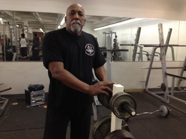 King College Prep high school football coach Lonnie Williams, 70, easily can bench press 225 pounds and squat 260.