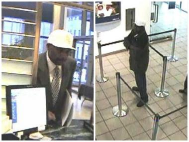A man described by the FBI as being in this 40s, 5-foot-9 to 5-foot-11 and weighing more than 200 pounds is suspected of robbing four banks in the downtown area this month.