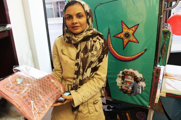 Shop N' Help on Devon Avenue sells goods made by Pakistani women.