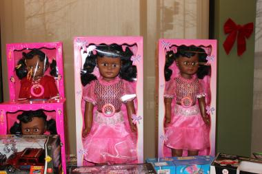 These new dolls were among the toys donated to the Englewood District police station on Tuesday by local businessman Suhail Fakhouri, who has sponsored a toy giveaway the last five years.