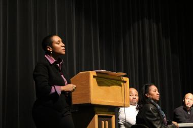 King College Prep High School Principal Shontae Higginbottom apologized to parents for a student-led protest last year at the school.