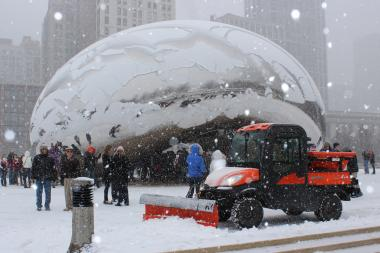 Several inches of snow could fall in Chicago on New Year's Eve.