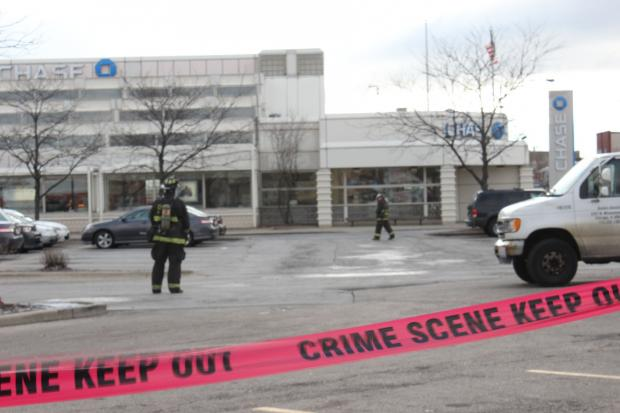 Suspicious Package at Chase Bank, Dec. 21, 2012.