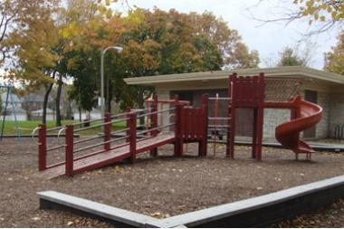 The playground at Touhy Park.