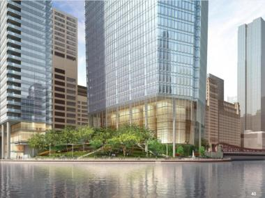 Previews of the prospective development at Wolf Point, presented at an Oct. 29 community meeting. There have been several adjustments to the development plan since then.