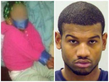 Andre Curry was charged with aggravated domestic battery after posting the above picture of his daughter on Facebook.