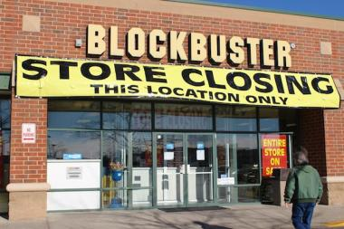 The Blockbuster store at Six Corners will close Feb. 13.