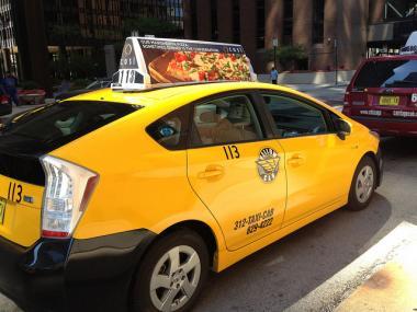 A Chicago taxi.