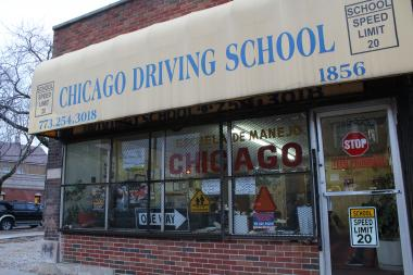 Willie Khran, co-owner of Chicago Driving School, is getting a flood of calls from people asking about temporary driver's licenses.