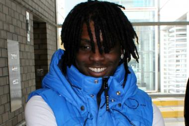 Chief Keef outside Juvenile Court in 2012.