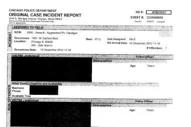 A Freedom of Information Act request for the police incident report of Jamaal Moore's death, sent to the Chicago Police Department by DNAinfo Chicago, came back redacted in its entirety.
