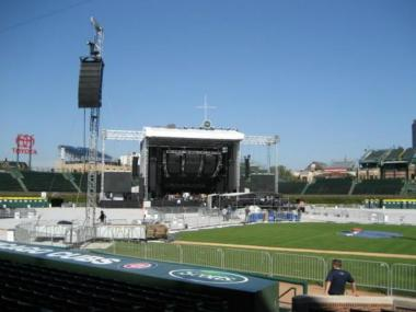 The Cubs tweeted a photo of a concert stage in the outfield of Wrigley on Tuesday, Jan. 22, 2013, suggesting Pearl Jam could play there this summer.